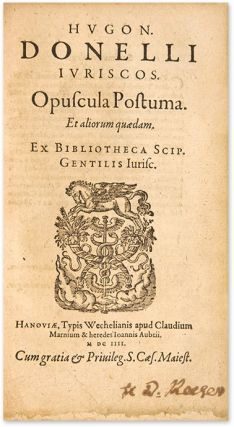 De Jurisdictione Libri III [Bound With] Doneau, Opuscula Postuma..