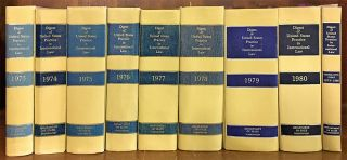 Digest of United States Practice in International Law 1973-1980, 9 bks. Rovine, McDowell, Boyd,...