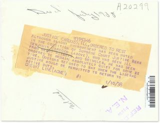 "Autograph Letter, Signed [with] 6"" x 8"" Black-and-White Photograph."