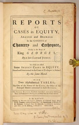Reports of Cases in Equity, Argued and Decreed in the Courts of...