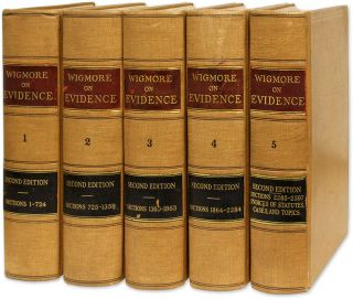 A Treatise on the Anglo-American System of Evidence, 2d ed, 5 vols. John Henry Wigmore