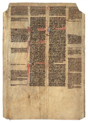 Leaf from a Papal Decretal Concerning Prescription of Ecclesiastical