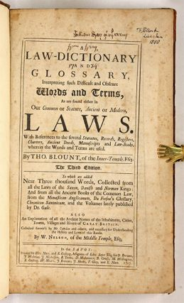 A Law-Dictionary and Glossary, Interpreting Such Difficult and...