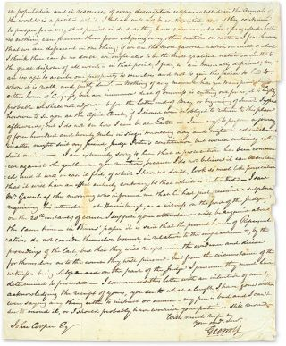 Autograph Letter, Signed, Washington, DC, December 16, 1825.