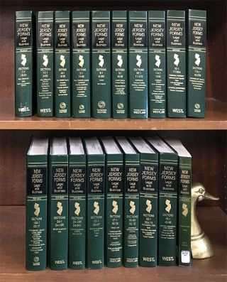 New Jersey Forms: Legal and Business. 19 Vols through June 2017 supps. Thomson Reuters