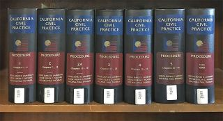 Procedure (California Civil Practice). 7 Vols. October 2017