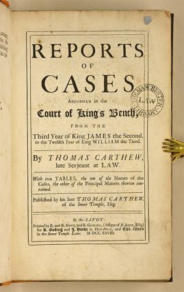 Reports of Cases Adjudged in the Court of King's Bench, From the...