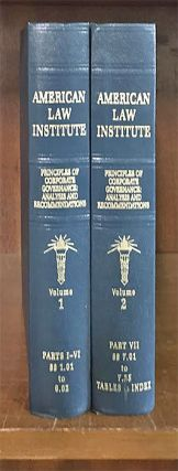 Principles of Corporate Governance. 2 Vols. with 2019 supplements. American Law Institute