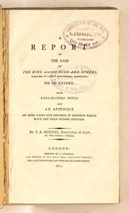A Report of the Case of the King Against Bebb, Bankrupts...