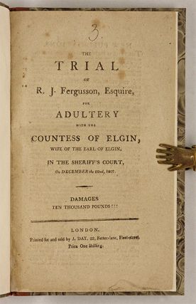 The Trial of R.J. Fergusson, Esquire, For Adultery with the Countess.
