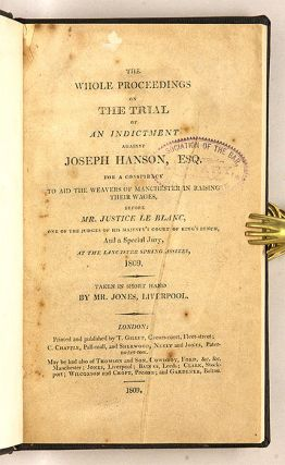 The Whole Proceedings on the Trial of an Indictment against Joseph...