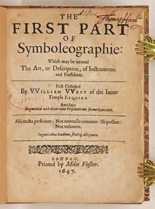 The First Part of Symboleographie [with] Second Part Symboleography...