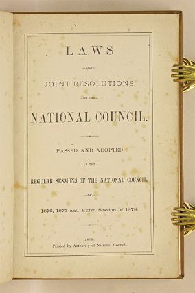 Laws and Joint Resolutions of the National Council, Passed and...
