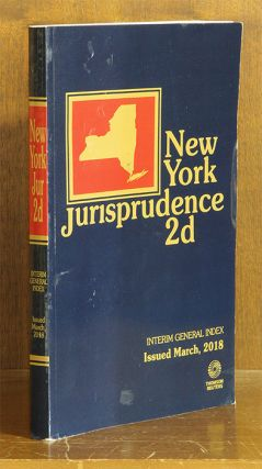 New York Jurisprudence 2d. May 2018 Cumulative Pocket Part Supplements. Thomson Reuters