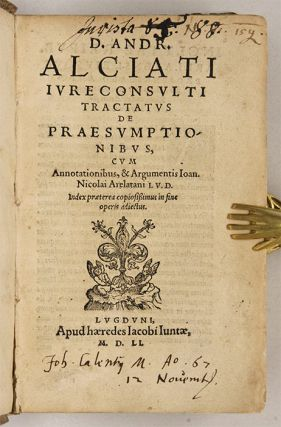 Tractatus de Praesumptionibus [Bound with Two Other Titles]...