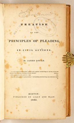 A Treatise on the Principles of Pleading, in Civil Actions, 1st Ed.
