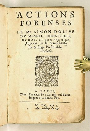 Actions Forenses, Paris, 1621