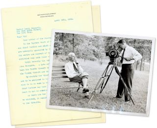 Typed Letters, Signed, On Personal Letterhead [with] Press Photograph. Manuscript, Willis Van Devanter, Louis Schwartz.