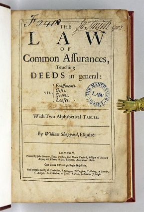 The Law of Common Assurances, Touching Deeds in General, Viz...