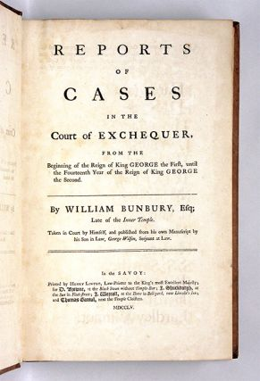 Reports of Cases in the Court of Exchequer, From the Beginning...