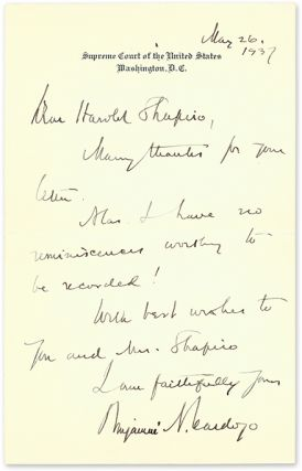 """Autograph Letter, Signed [with] 6-1/2"""" x 8-1/2"""" Photograph..."""