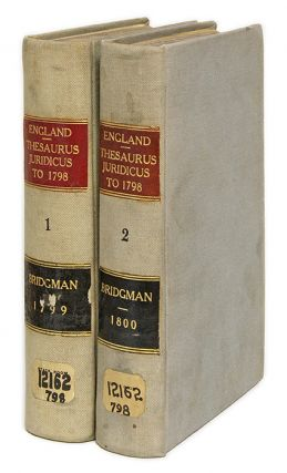 Thesaurus Juridicus, Containing the Decisions of the Several Courts. Richard Whalley Bridgman