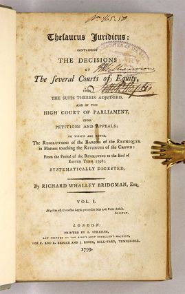 Thesaurus Juridicus, Containing the Decisions of the Several Courts...