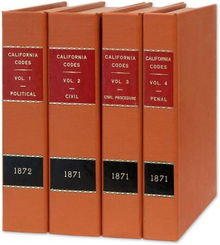 Revised Laws of the State of California, In Four Codes:... 4 vols. California, Creed Haymond,...