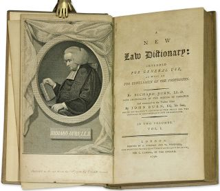 A New Law Dictionary, Intended for General Use, London, 1792.
