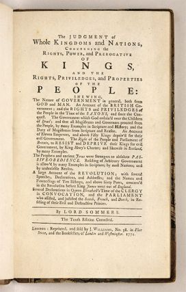 The Judgment of Whole Kingdoms and Nations, Concerning the Rights...