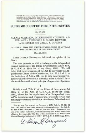 Alexia Morison, Independent Counsel, Appellant v. Theodore B. Olson. Supreme Court of the United...