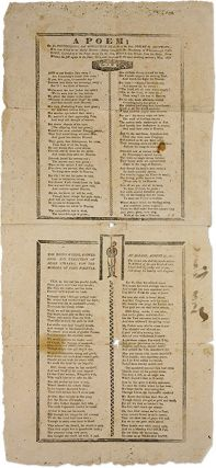 A Poem of the Distressing and Afflictive Death of the Rev. Josiah M. Broadside, JH, Death,...