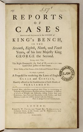 Cases Argued and Adjudged in the Court of King's Bench, In the...