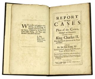A Report of Divers Cases in Pleas of the Crown, Adjudged and...