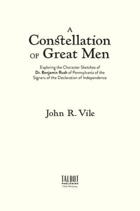 A Constellation of Great Men: Exploring the Character Sketches by...
