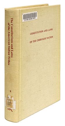 Constitution and Laws of the Cherokee Nation, Published by an Act of. Cherokee Nation, John Lynch...