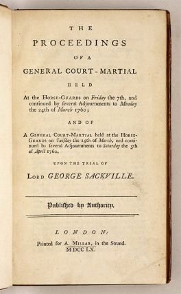 The Proceedings of a General Court-Martial Held at the Horse-Guards...