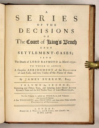 A Series of the Decisions of the Court of King's Bench, 2 Vols. in 1