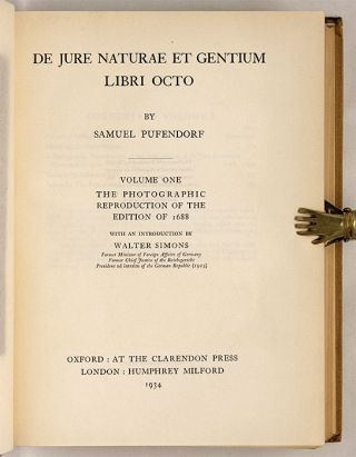 De Jure Naturae et Gentium [with] Of The Law Of Nature And Nations...