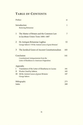 Law, Political Thought, and the Ancient Constitution: A Case Study of