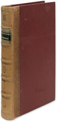An Interesting Appendix to Sir William Blackstone's Commentaries. Joseph Priestley, Sir William...
