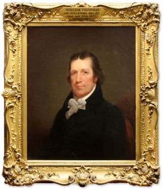 Portrait of William Tilghman (1756-1827). Oil on Canvas, framed