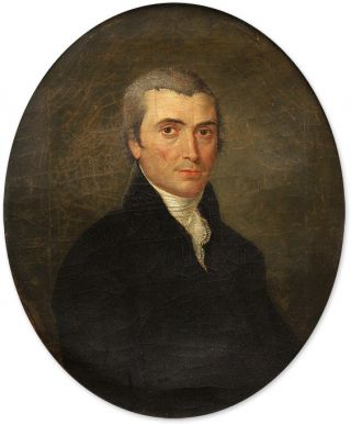 Portrait of John Meredith Read (1797-1874) Oil on Canvas, framed. American School 19th Century.