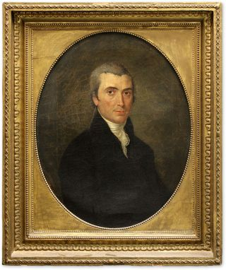 Portrait of John Meredith Read, Oil on Canvas, framed