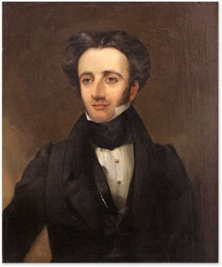 Portrait of Francis Joseph Troubat (1802-1868) Oil on Canvas, framed. American School 19th Century.