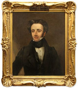 Portrait of Francis Joseph Troubat, Oil on Canvas, Framed.