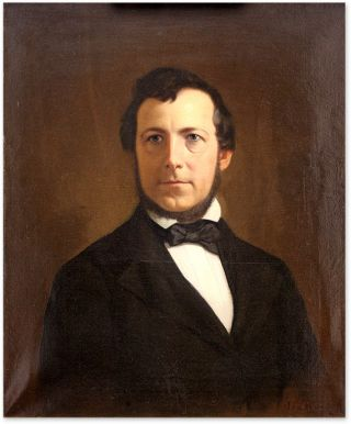 Portrait of William Worthington Haly, Oil on Canvas,framed. Ida Waugh, William Worthington Haly.
