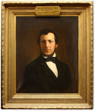 Portrait of William Worthington Haly, Oil on Canvas,framed