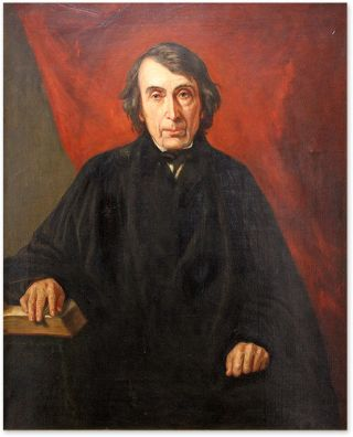 Portrait of Roger Brook Taney (1777-1864) Oil on Canvas, framed. American School 19th/20th C. After George Healy.