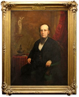 Portrait of James Thompson, Oil on Canvas, framed.